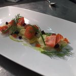 House smoked petuna trout, Pernod cured fennel, roast beetroot, flying fish roe