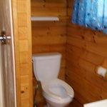 Bathroon in deluxe cabin