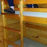 One bunk bed in deluxe cabin