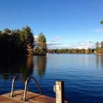 Dock view of Stoney Lake from Pine Vista