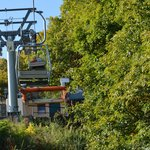 closeup of the chairlift...