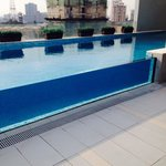 The glass pool...