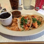 Chicken Tacos with black beans and rice