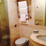 Bathroom with towel warmer