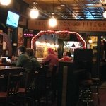 Subtile interior lighting contributes to O'Riley's great atmosphere.