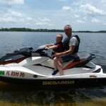 5 year old connor loved the jet ski with grand dad.