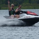 pam's first time driving a jet ski