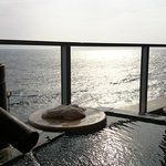 客室露天風呂から見た太平洋