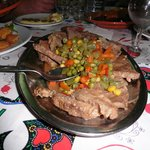 veal dinner on the food tour