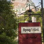 Spag & tini is a stone's throw from Chateau Frontenac