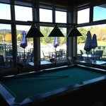 Pool table in the bar