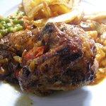 poulet grillé en sauce