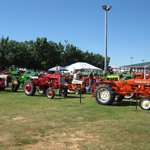Restored antique tractors