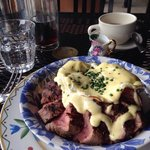 Steak and eggs..done perfectly! Was devine! Merci beaucoup!!