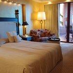 La chambre et son lit moëlleux
