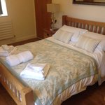 Very comfortable bedroom, dressing gown each plus lots of towels and slippers
