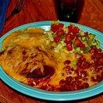 Blue corn chicken enchilada
