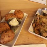 fried pickles and something else....