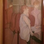 Beautifully decorated lift doors with painting typical of the Impressionist Era