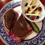 My husband's Reuben Sandwich