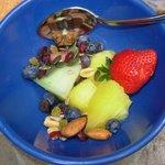 Frutas sempre fresquinhas no ótimo café da manhã
