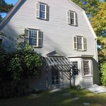 The side of the Old Manse faces the garden planted by Thoreau