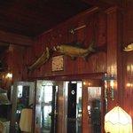 Amazing trophy fish mounts.
