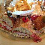 Italian Sandwich with French Fries