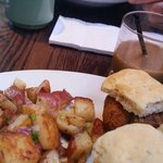 Sweet Baby Breesus with Breakfast Potatoes and Cajun Benedict.