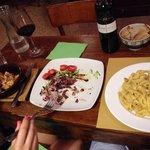 Lasagna & Fettuccine with hot veg!