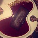 Fondant chocolat coulis framboise