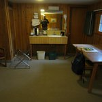 Snow Lodge frontier cabin interior
