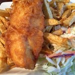 Salty's fish and chips.