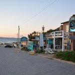 vista de la hosteria a la playa