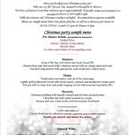 Our Christmas party menu