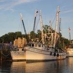 Nearby shrimp boats