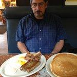 BIG jumbo breakfast - couldn't finish the pancakes!