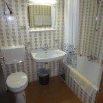 clean dated bathroom