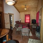 """Homestead """"Pond"""" Queen BR sleeps two. Pet friendly for fee. Most affordable private lodge bedroo"""