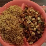 Kung pao chicken with pork fried rice