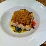 Broiled hake main dish