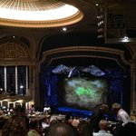 View of stage of Wicked performance from mezzanine