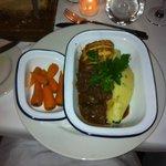 Beef in wine sauce