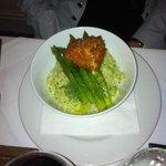 Polenta and asparagus