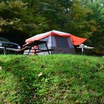 Tent Site view on other side of creek