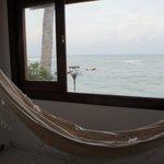 Varanda do quarto LAGOSTA, com vista para a 3ª praia