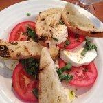 Fresh mozzarella and tomato salad.
