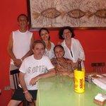 Natália entre Rui e Francisca, sentados Dr. Afonso e Lourdes
