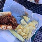 The best part, pulled pork bbq sandwich