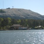 Side of the mountain from the lake